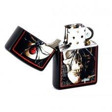 Зажигалка ZIPPO Mazzi, латунь с покрытием Black Matte, черный, матовая, 36х12x56 мм 28627