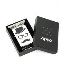 Зажигалка ZIPPO Classic с покрытием Brushed Chrome, латунь/сталь, серебристая, матовая, 36x12x56 мм 28648