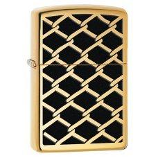 Зажигалка ZIPPO Classic с покрытием High Polish Brass, латунь/сталь, золотистая,  36x12x56 мм 28675