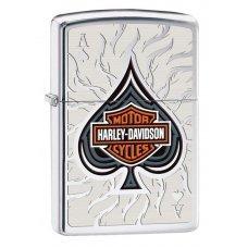 Зажигалка ZIPPO Harley-Davidson®, латунь с покрытием High Polish Chrome, серебристая, 36x12x56 мм 28688
