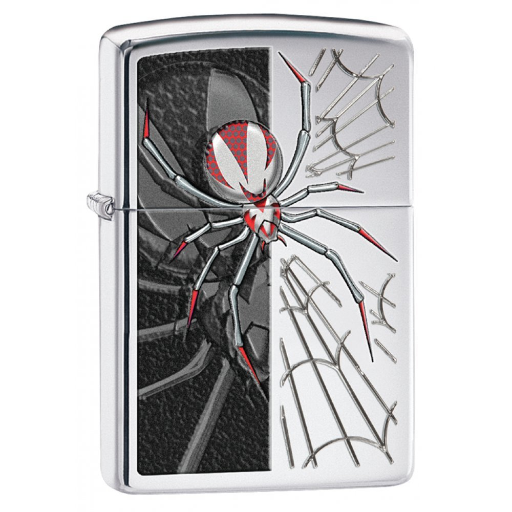 Зажигалка ZIPPO Classic с покрытием High Polish Chrome, латунь/сталь, серебристая, 36x12x56 мм 28795