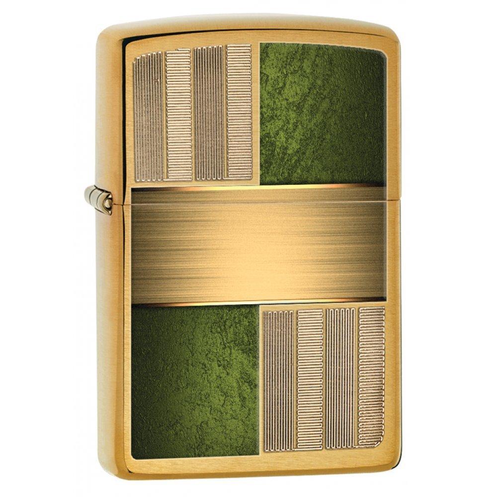 Зажигалка ZIPPO Classic с покрытием Brushed Brass, латунь/сталь, золотистая, матовая, 36x12x56 мм 28796