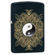 Зажигалка ZIPPO Classic с покрытием Black Matte, латунь/сталь, чёрная, матовая, 36x12x56 мм 28829