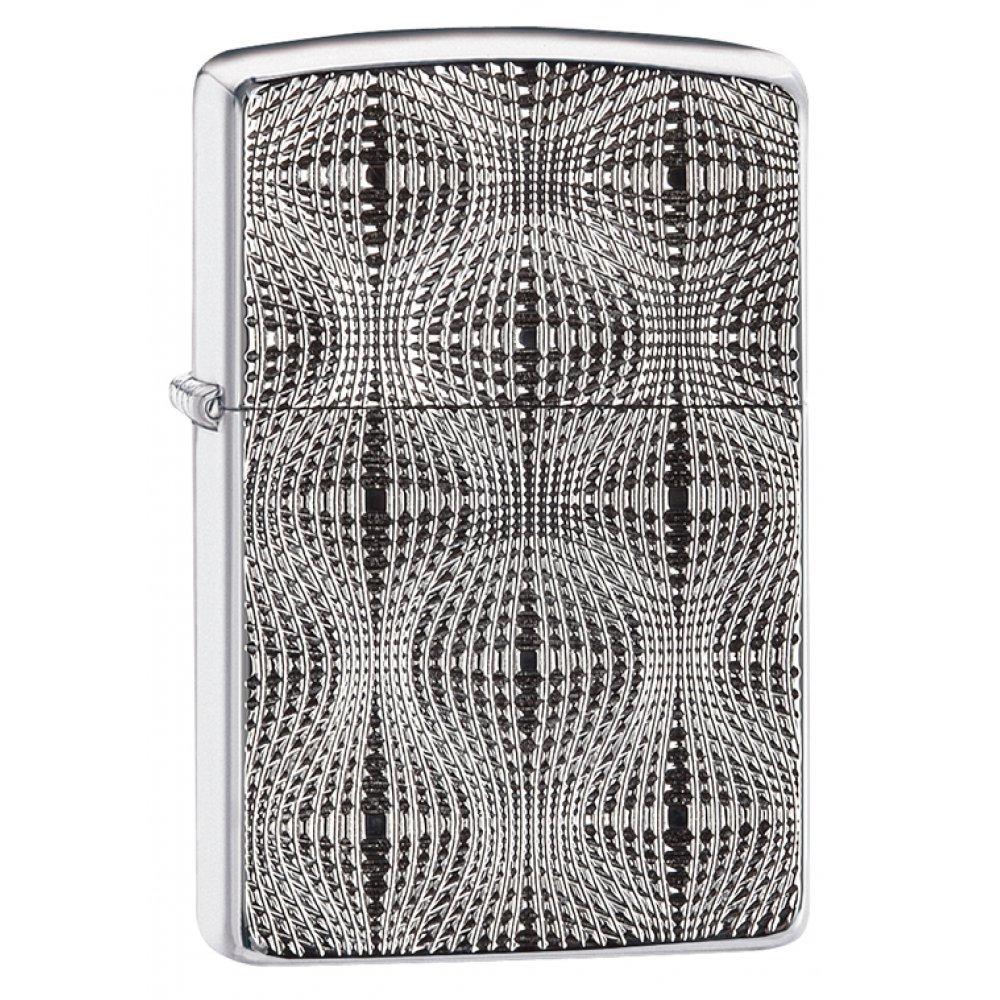 Зажигалка ZIPPO Armor™ с покрытием High Polish Chrome, латунь/сталь, серебристая, 37х13x58 мм 28835