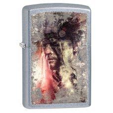 Зажигалка ZIPPO Classic с покрытием Street Chrome™, латунь/сталь, серебристая, матовая, 36x12x56 мм 28868