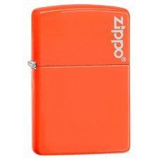 Зажигалка ZIPPO Classic с покрытием Neon Orange, латунь/сталь, оранжевая с логотипом, 36x12x56 мм 28888ZL