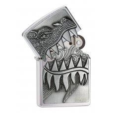 Зажигалка ZIPPO Classic с покрытием Brushed Chrome, латунь/сталь, серебристая, матовая, 36x12x56 мм 28969