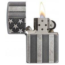 Зажигалка ZIPPO Armor™ с покрытием Antique Silver Plate™, латунь/сталь, серая, матовая, 37х13x58 мм 28974