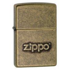 Зажигалка ZIPPO Classic с покрытием Antique Brass, латунь/сталь, серебристая, матовая, 36x12x56 мм 28994