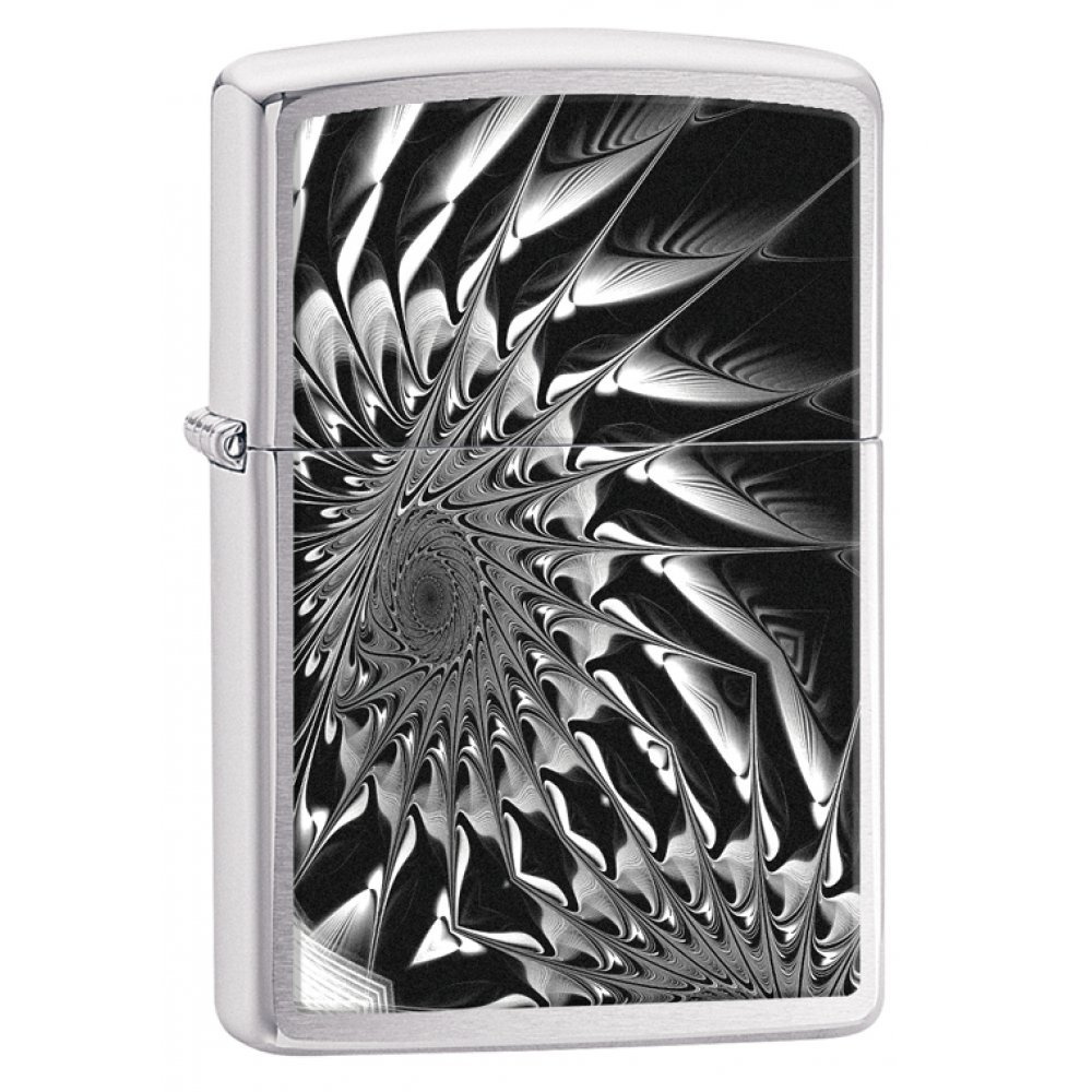 Зажигалка ZIPPO Classic с покрытием Brushed Chrome, латунь/сталь, серебристая, матовая, 36x12x56 мм 29061