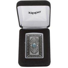 Зажигалка ZIPPO Classic с покрытием Satin Chrome™, латунь/сталь, серебристая, матовая, 36x12x56 мм 29105