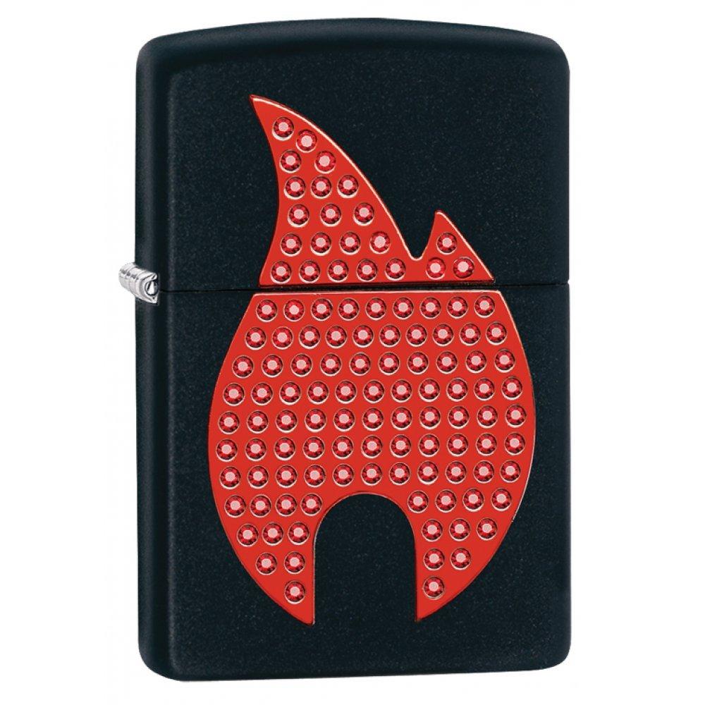 Зажигалка ZIPPO Classic с покрытием Black Matte, латунь/сталь, чёрная, матовая, 36x12x56 мм 29106