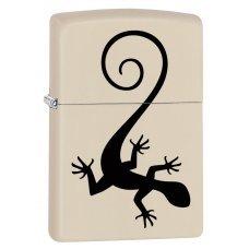 Зажигалка ZIPPO 216 Lizard с покрытием Cream Matte, латунь/сталь, кремовая, матовая, 36x12x56 мм 29190