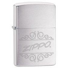 Зажигалка ZIPPO 200 Zippo с покрытием Brushed Chrome, латунь/сталь, серебристая, 36x12x56 мм 29209