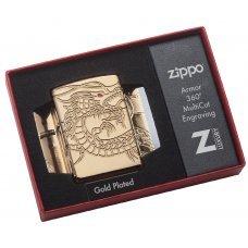 Зажигалка ZIPPO Armor™ с покрытием High Polish Gold Plate, латунь/сталь, золотистая, 37х13x58 мм 29265