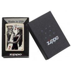 Зажигалка ZIPPO Classic с покрытием Cream Matte, латунь/сталь, кремовая, матовая, 36x12x56 мм 29393
