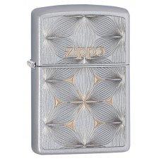 Зажигалка ZIPPO Classic с покрытием Satin Chrome™, латунь/сталь, серебристая, матовая, 36x12x56 мм 29411