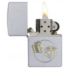 Зажигалка ZIPPO Classic с покрытием Satin Chrome™, латунь/сталь, серебристая, матовая, 36x12x56 мм 29412
