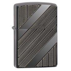 Зажигалка ZIPPO Armor™ с покрытием High Polish Black Ice®, латунь/сталь, чёрная, 37х13x58 мм 29422