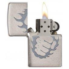 Зажигалка ZIPPO Classic с покрытием Brushed Chrome, латунь/сталь, серебристая, матовая, 36x12x56 мм 29428