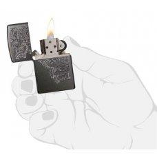 Зажигалка ZIPPO Classic с покрытием Gray, латунь/сталь, серая, матовая, 36x12x56 мм 29431