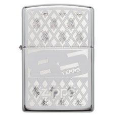 Зажигалка ZIPPO 85 с покрытием High Polish Chrome, латунь/сталь, серебристая, 36x12x56 мм 29438