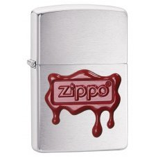 Зажигалка ZIPPO Classic с покрытием Brushed Chrome, латунь/сталь, серебристая, матовая, 36x12x56 мм 29492