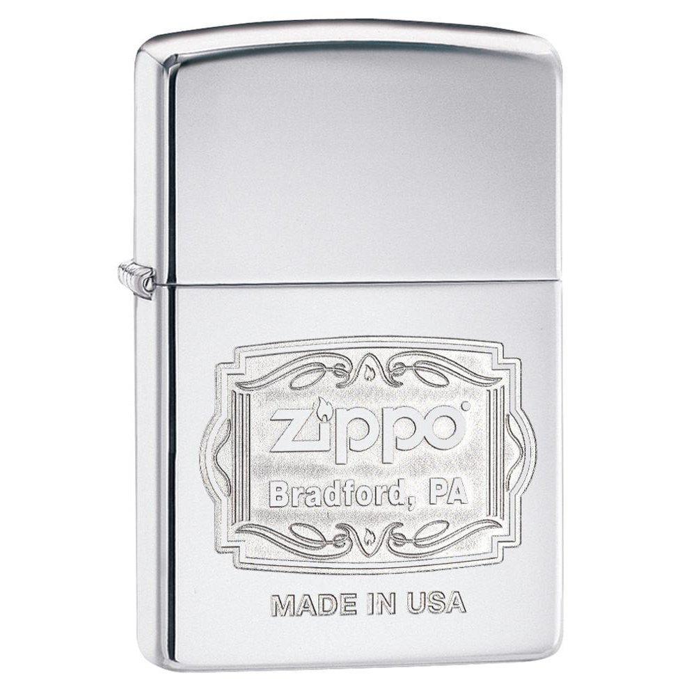Зажигалка ZIPPO Classic с покрытием High Polish Chrome, латунь/сталь, серебристая, 36x12x56 мм 29521