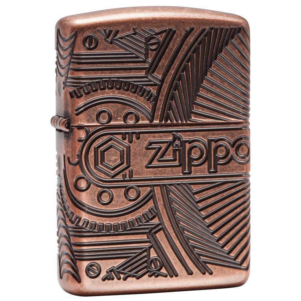 Зажигалка ZIPPO Armor™ с покрытием Antique Copper™, латунь/сталь, медная, матовая, 37х13x58 мм 29523