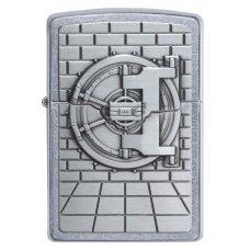 Зажигалка ZIPPO Classic с покрытием Street Chrome™, латунь/сталь, серебристая, матовая, 36x12x56 мм 29555