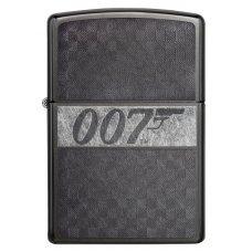 Зажигалка ZIPPO James Bond с покрытием Black Ice®, латунь/сталь, чёрная, глянцевая, 36x12x56 мм 29564