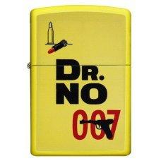 Зажигалка ZIPPO James Bond с покрытием Lemon™, латунь/сталь, жёлтая, матовая, 36x12x56 мм 29565