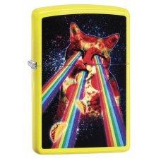 Зажигалка ZIPPO Classic с покрытием Neon Yellow, латунь/сталь, жёлтая, глянцевая, 36x12x56 мм 29614