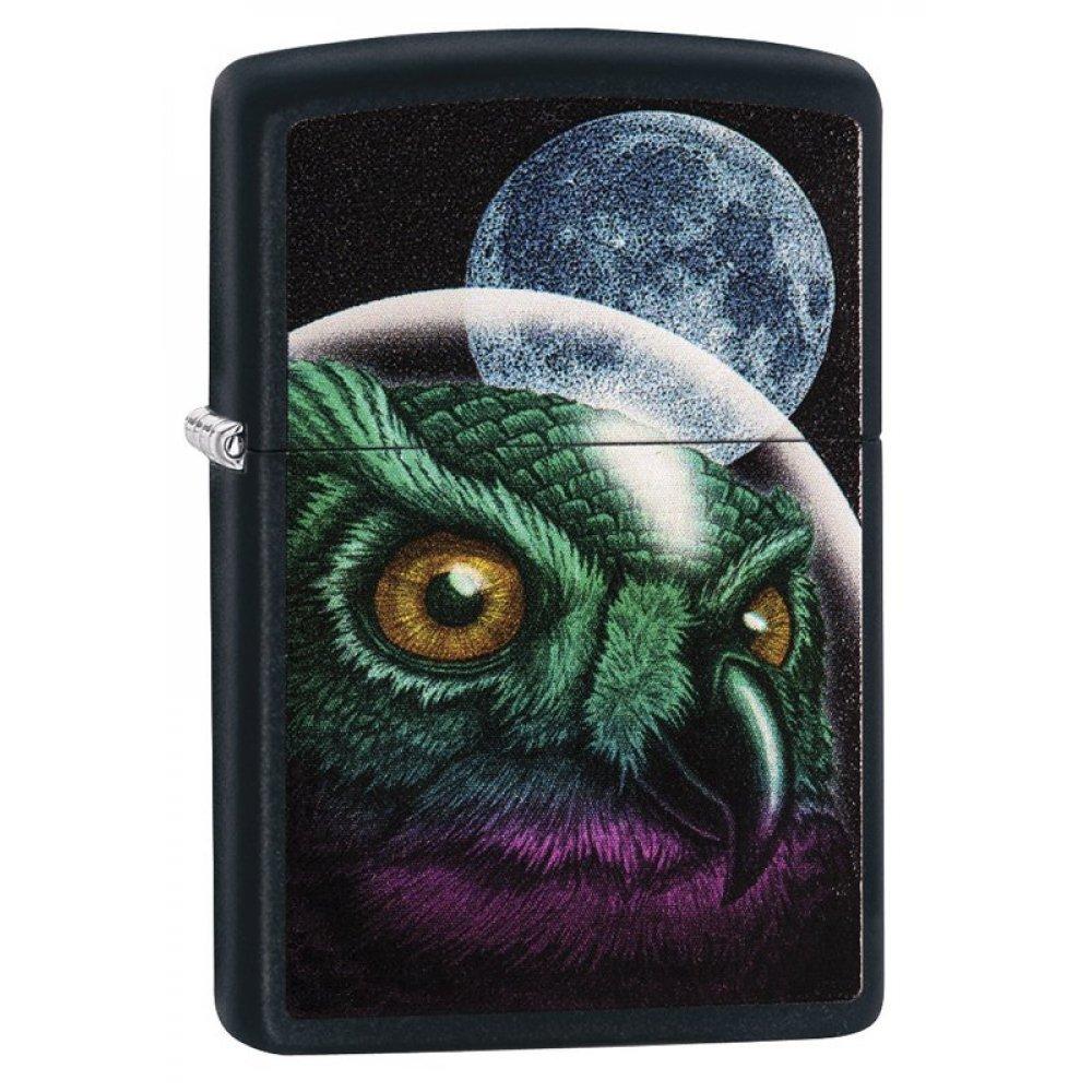 Зажигалка ZIPPO Classic с покрытием Black Matte, латунь/сталь, чёрная, матовая, 36x12x56 мм 29616