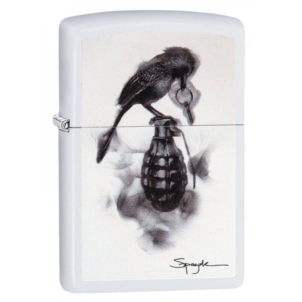 Зажигалка ZIPPO Classic с покрытием White Matte, латунь/сталь, белая, матовая, 36x12x56 мм 29645