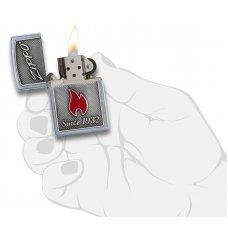 Зажигалка ZIPPO Classic с покрытием Street Chrome, латунь/сталь, серебристая, матовая, 36x12x56 мм 29650