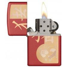 Зажигалка ZIPPO Classic с покрытием Red Matte, латунь/сталь, красная, матовая, 36x12x56 мм 29661