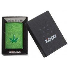 Зажигалка ZIPPO Classic с покрытием Meadow™, латунь/сталь, зелёная, глянцевая, 36x12x56 мм 29662