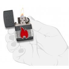Зажигалка ZIPPO Classic с покрытием Iron Stone™, латунь/сталь, серая, матовая, 36x12x56 мм 29663