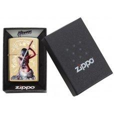 Зажигалка ZIPPO Mazzi® с покрытием High Polish Brass, латунь/сталь, золотистая, 36x12x56 мм 29668