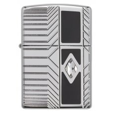 Зажигалка ZIPPO Armor® с покрытием High Polish Chrome, латунь/сталь, серебристая, 37х13x58 мм 29669