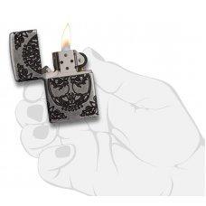 Зажигалка ZIPPO Armor® с покрытием Antique Silver, латунь/сталь, серебристая, матовая, 37х13x58 мм 29670