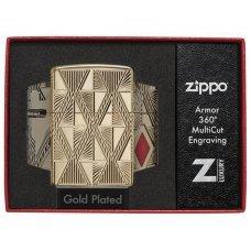 Зажигалка ZIPPO Armor® с покрытием High Polish Gold Plate, латунь/сталь, золотистая, 37х13x58 мм 29671