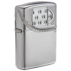 Зажигалка ZIPPO Armor® с покрытием High Polish Chrome, латунь/сталь, серебристая, 37х13x58 мм 29674