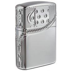 Зажигалка ZIPPO Armor® с покрытием High Polish Chrome, латунь/сталь, серебристая, 37х13x58 мм