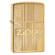 Зажигалка ZIPPO Classic с покрытием High Polish Brass, латунь/сталь, золотистая, 36x12x56 мм 29677