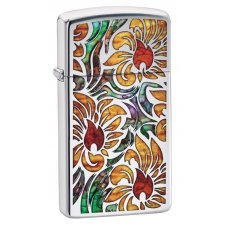 Зажигалка ZIPPO Slim® с покрытием High Polish Chrome, латунь/сталь, серебристая, 30x10x55 мм 29702