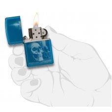 Зажигалка ZIPPO Classic с покрытием High Polish Blue, латунь/сталь, голубая, глянцевая, 36x12x56 мм 29704