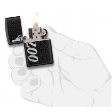 Зажигалка ZIPPO James Bond с покрытием Black Matte, латунь/сталь, чёрная, матовая, 36x12x56 мм 29718