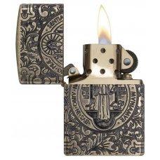 Зажигалка ZIPPO Armor® с покрытием Antique Brass, латунь/сталь, золотистая, матовая, 37х13x58 мм 29719